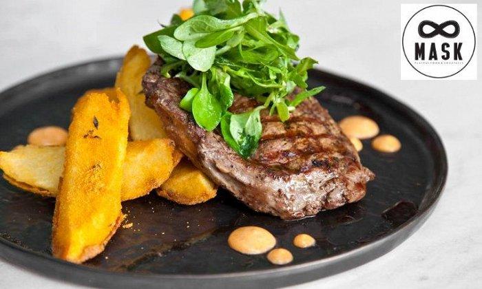 """19,90€ για ένα γεύμα 2 ατόμων με ελεύθερη επιλογή από τον κατάλογο φαγητού, στο """"Mask Bar Restaurant"""" στην πλατεία Αγίας Ειρήνης"""