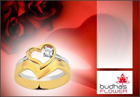 Ένα ιδιαίτερο δώρο για την ημέρα του Αγίου Βαλεντίνου! 25€για ένα δαχτυλίδι σε δύο μέρη με πέτρα Swarovski επιχρυσωμένο με λευκό και κίτρινο χρυσό 24 καρατίων σε συσκευασία δώρου και δωρεάν αποστολή σε όλη την Ελλάδα, από την Budhas Flower, αξίας 50€ - έκπτωση 50%