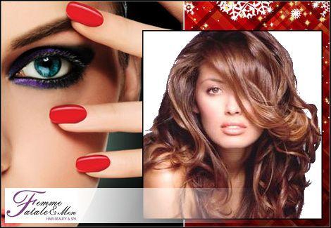 25€για (1) λούσιμο, (1) βραδινό χτένισμα, (1) επαγγελματικό βραδινό μακιγιάζ και (1) manicure απλό ή γαλλικό, στο Femme Fatale στον Άλιμο, αξίας 58€ - έκπτωση 57%