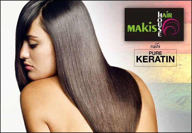 39€ για 1 ισιωτική θεραπεία Brazilian pure Keratin Nashi Landoll χωρίς φορμαλδεΰδη για ολόισια, πλούσια και απαλά μαλλιά για έως 3 μήνες, από το