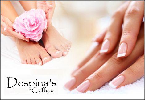6€για 1 manicure (απλό ή γαλλικό) ή 1 pedicure (απλό ή γαλλικό) με προϊόντα Essie, από το Despina's Coiffure σε Πεύκη ή Λυκόβρυση, αξίας 19€ - έκπτωση 68%12€ για 1 manicure (απλό ή γαλλικό) και ημιμόνιμη βαφή διάρκειας 3 εβδομάδων