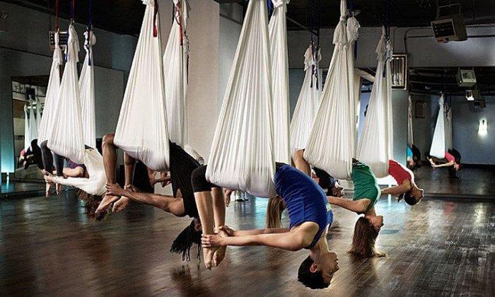 29€ για 1 μήνα Aerial Yoga, με 2 μαθήματα την εβδομάδα, στη σχολή