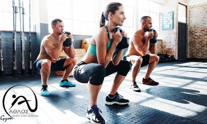 19€ για μηνιαία συνδρομή στα ομαδικά προγράμματα (cross training, yoga, pilates, zumba κ.ά.), από το Fitness Club Άθλος στην Ηλιούπολη