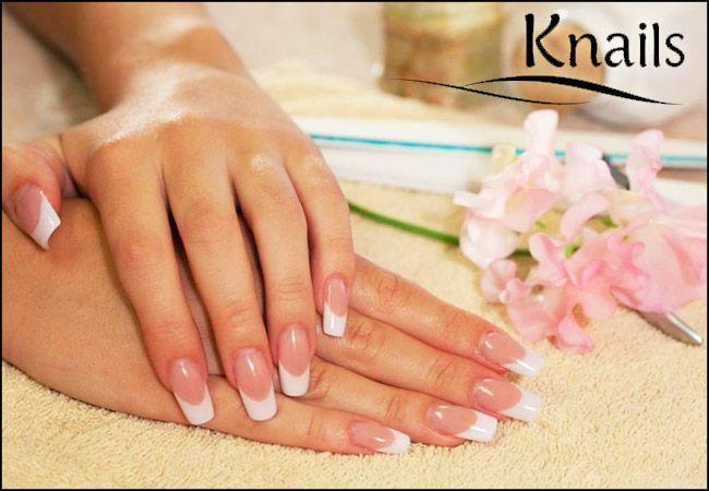 25€ για 1 τοποθέτηση τεχνητών νυχιών με gel ή ακρυλικό, ημιμόνιμη βαφή (απλό ή γαλλικό) διάρκειας 1 μήνα, με πλήρη περιποίηση χεριών και 2 nail art, από το Knails στην Αγία Παρασκευή, αξίας 55€ - έκπτωση 55% εικόνα