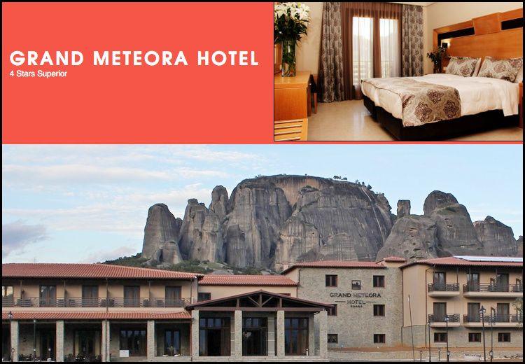 Διαμονή στην Καλαμπάκα στο 4* Grand Meteora Hotel με 75€ ανά διανυκτέρευση με πρωινό σε δίκλινο δωμάτιο με θέα τα Μετέωρα για 2 ενήλικες και 1 παιδί έως 3 ετών! Η προσφορά ισχύει για διαμονή έως 31 Μαρτίου εικόνα