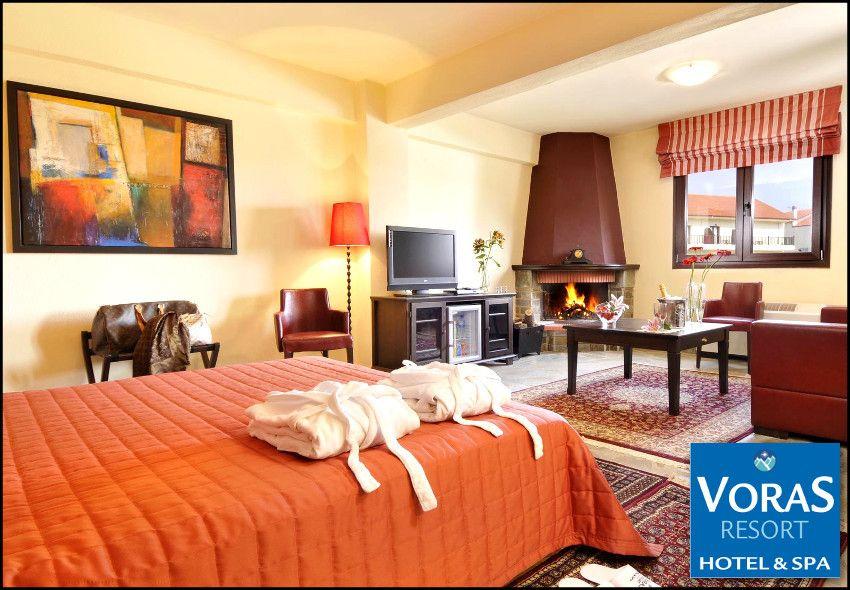 Καϊμακτσαλαν! 99€ για 3 ημερες – 2 διανυκτερευσεις με πρωινο σε δικλινο δωματιο για 2 ενηλικες και 1 παιδι εως 6 ετων στο 4* Voras Resort Hotel & Spa! Παρεχεται early check in – late check out, ελευθερη χρηση της Εσωτερικης Θερμαινομενης Πισιναςστους 30°Cμε συστημα υδρομασαζ, καταρρακτη νερου και αντιθετη κολυμβηση και της Σαουνα καθως και 30% εκπτωση στις θεραπειες Spa (αισθητικη, μασαζ)! Δυνατοτητα αναβαθμισης και διαμονης σε Junior…