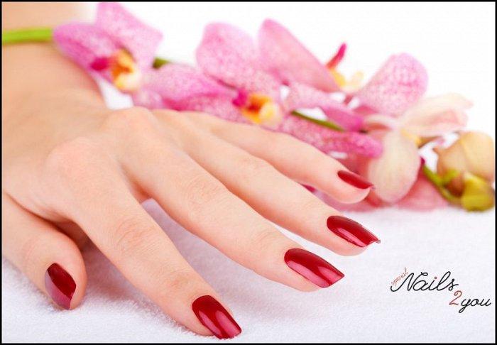 """25€ για 1 τοποθέτηση τεχνητών νυχιών με gel, ημιμόνιμη βαφή και 2 nail art, από το """"Nails 2 You"""" στο κέντρο του Περιστερίου"""