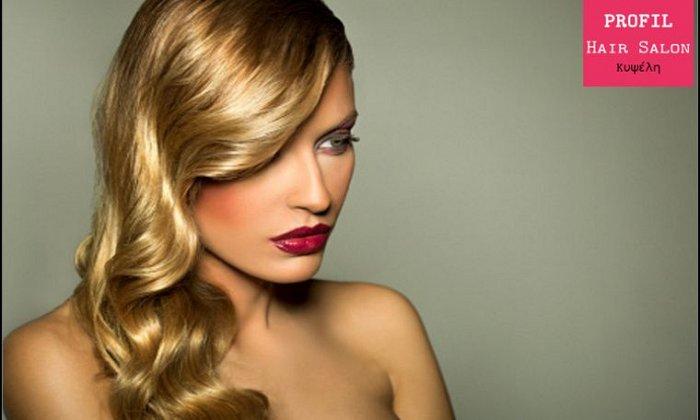 19€ για 1 κούρεμα, 1 θεραπεία αναδόμησης, 1 χτένισμα και 1 λούσιμο από το Profil Hair Salon στην Κυψέλη