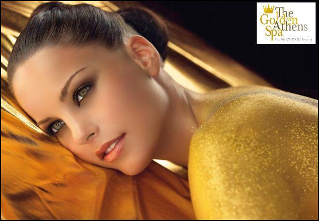 Εορτές με το The Golden Athens Spa!!! 30€ για ένα εορταστικό πακέτο VIP Golden Therapyπου περιλαμβάνει (1) θεραπεία μασάζ σώματος με μάσκα με ρινίσματα χρυσού 23κ., peeling, αρωματοβροχή και χαμάμ και (1) θεραπεία αναζωογόνησης προσώπου με πουγκιά και αιθέρια έλαια για απόλυτα νεανικό, σφριγηλό και λαμπερό δέρμα, συνολικής διάρκειας 2,5 ωρών, από το υπερπολυτελές